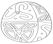 easter egg with folk pattern coloring pages