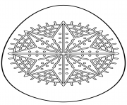 easter egg with octagram star coloring pages