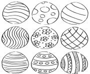 easter eggs pattern coloring pages