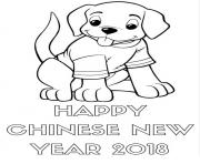 Happy Chinese New Year 2018 Sheet