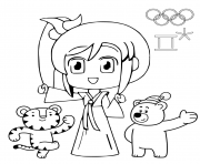 PyeongChang 2018 Winter Olympic Games coloring pages