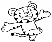 Printable 2018 Winter Olympics Game Mascot Tiger Soohorang coloring pages
