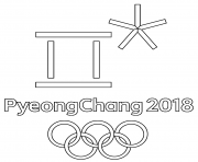 Printable PyeongChang 2018 Olympic Games Logo to Color coloring pages