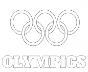 Printable olympic rings logo coloring pages