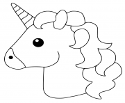 Printable Unicorn Emoji coloring pages