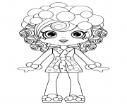 Shoppies Dolls Coloring Pages Free Printable
