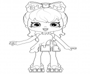 Cocolette Shopkins Doll coloring pages