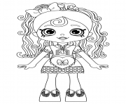 Shopkins Doll Spaghetti Sue Lil Shoppie from the Happy Places coloring pages