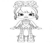 Shopkins Shoppies Queenie Hearts or Queen of Hearts coloring pages