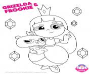 Printable Grizelda Frookie 1 true and the rainbow kingdom coloring pages