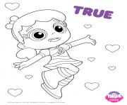 Printable True 1 true and the rainbow kingdom coloring pages