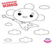 Printable Rainbow King 1 true and the rainbow kingdom coloring pages