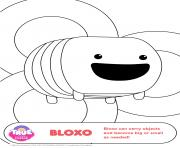 Printable Bloxo 1 true and the rainbow kingdom coloring pages