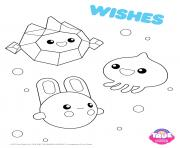 Wishes 1 true and the rainbow kingdom coloring pages