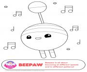 Printable beepaw 1 true and the rainbow kingdom coloring pages