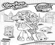 shopkins shoppies Macy Macaron Melty Macaron Stack le macarons world vacation europe coloring pages