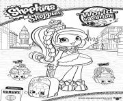 shopkins shoppies Princess Sweets English Rose world vacation europe coloring pages