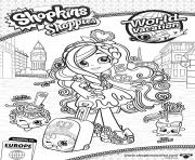 shopkins shoppies world vacation europe Spaghetti Sue Mario Meatball Lyn Gweeni 1 coloring pages