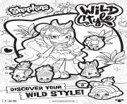 Printable shopkins season 9 wild style 5 coloring pages