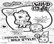 Printable shopkins season 9 wild style 3 coloring pages