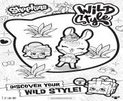 Printable shopkins season 9 wild style 4 coloring pages