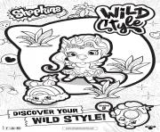 Printable shopkins season 9 wild style 1 coloring pages