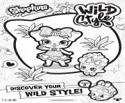 Printable shopkins season 9 wild style 2 coloring pages