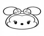Printable Minnie Mouse Tsum Tsum coloring pages