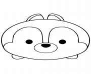 Tsum Tsum Chip coloring pages