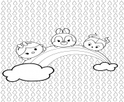 Printable Tsum Tsum Full Page Coloring coloring pages