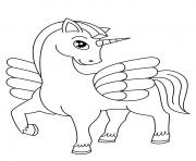 cute winged unicorn coloring pages