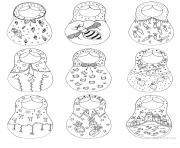 Printable Russian Nesting Dolls coloring pages