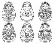 matryoshka russian folk nesting doll