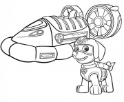 Printable paw patrol zumas hovercraft paw patrol coloring pages