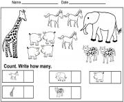 kindergarten math worksheets coloring pages