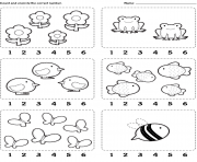count encircle kindergarten worksheets coloring pages