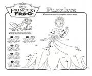 disney princess frog puzzlers activity sheet coloring pages