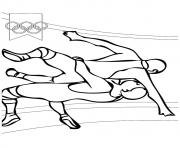Wrestling olympic games coloring pages