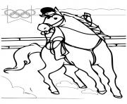 Printable Equestrian olympic games coloring pages