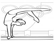 Printable Gymnastics olympic games coloring pages