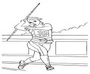 Printable Javelin Throw olympic games coloring pages