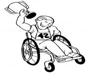 Wheel Chair Sport olympic games coloring pages