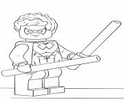 lego nightwing coloring pages