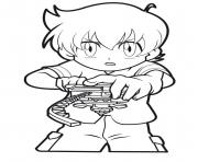 Printable beyblade player coloring pages
