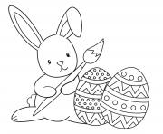 graceful easter bunny paint coloring pages