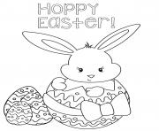Happy Easter Egg Rabbit coloring pages