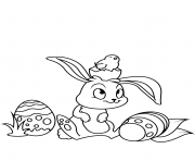 cute easter bunny and chick coloring pages