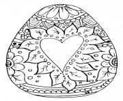 Easter Egg with Heart for Adult coloring pages