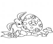 cute easter bunny and egg coloring pages