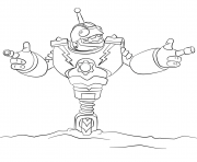 Skylanders Swap Force Slobber Tooth coloring page. More content on  hellokids.com | Skylanders, Skylanders swap force, Coloring pages | 148x180